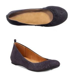 Style & Co Vinniee Gray Faux Snakeskin Flats